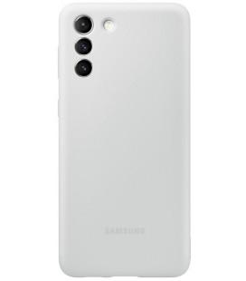 """Originalus šviesiai pilkas dėklas """"Silicone Cover"""" Samsung Galaxy S21 Plus telefonui """"EF-PG996TJE"""""""