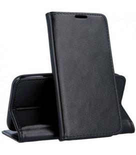 """Juodas atverčiamas dėklas Samsung Galaxy A12 telefonui """"Smart Magnetic"""""""
