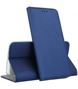 """Mėlynas atverčiamas dėklas Samsung Galaxy A12 telefonui """"Smart Magnet"""""""