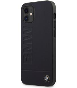 "Juodas dėklas Apple iPhone 12 Mini telefonui ""BMHCP12SSLLNA BMW Leather Hot Stamp Cover"""