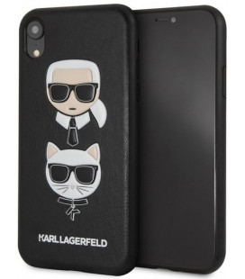 "Juodas dėklas Apple iPhone XR telefonui ""KLHCI61KICKC Karl Lagerfeld Karl and Choupette Hard Case"""
