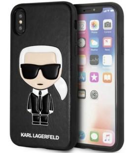 "Juodas dėklas Apple iPhone X/XS telefonui ""KLHCPXIKPUBK Karl Lagerfeld Ikonik TPU Case"""
