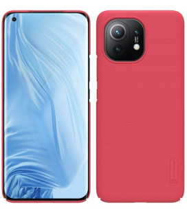 """Raudonas dėklas Xiaomi Mi 11 telefonui """"Nillkin Frosted Shield"""""""