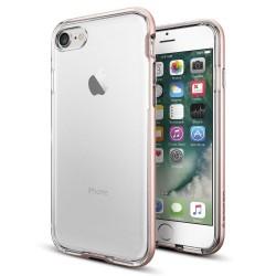 """Rausvai auksinės spalvos dėklas Apple iPhone 7 telefonui """"Spigen Neo Hybrid Crystal"""""""