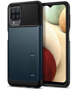 "Pilkas dėklas Samsung Galaxy A12 telefonui ""Spigen Slim Armor"""