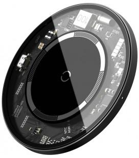 "Juodas belaidis 15W pakrovėjas ""Baseus Simple Magnetic Visible Magsafe"""