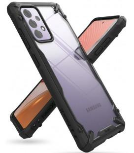 """Juodas dėklas Samsung Galaxy A72 5G telefonui """"Ringke Fusion X"""""""