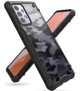 """Juodas (Camo) dėklas Samsung Galaxy A72 telefonui """"Ringke Fusion X"""""""