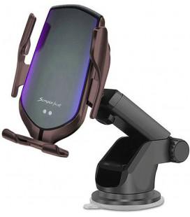 """Juodas automobilinis telefono laikiklis su belaidžio krovimo funkcija """"Tech-Protect R2"""""""