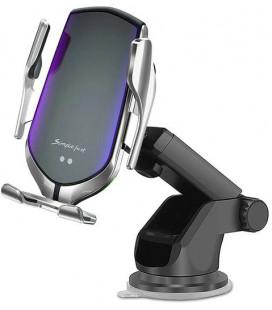 """Sidabrinės spalvos automobilinis telefono laikiklis su belaidžio krovimo funkcija """"Tech-Protect R2"""""""