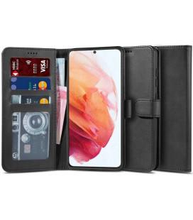 """Juodas atverčiamas dėklas Samsung Galaxy S21 Plus telefonui """"Tech-protect Wallet 2"""""""