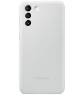 """Originalus šviesiai pilkas dėklas """"Silicone Cover"""" Samsung Galaxy S21 telefonui """"EF-PG991TJE"""""""