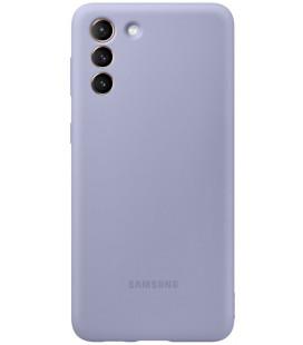 """Originalus violetinis dėklas """"Silicone Cover"""" Samsung Galaxy S21 Plus telefonui """"EF-PG996TVE"""""""