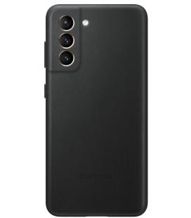 """Originalus juodas dėklas """"Leather Cover"""" Samsung Galaxy S21 telefonui """"EF-VG991LBE"""""""