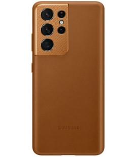"""Originalus rudas dėklas """"Leather Cover"""" Samsung Galaxy S21 Ultra telefonui """"EF-VG998LAE"""""""