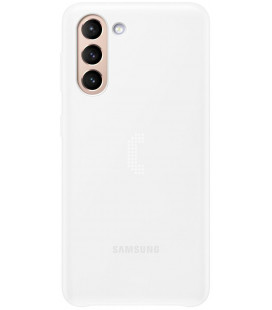 "Originalus baltas dėklas ""LED Cover"" Samsung Galaxy S21 telefonui ""EF-KG991CWE"""
