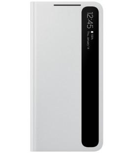 """Originalus šviesiai pilkas atverčiamas dėklas """"Clear View Cover"""" Samsung Galaxy S21 Plus telefonui """"EF-ZG996CJE"""""""