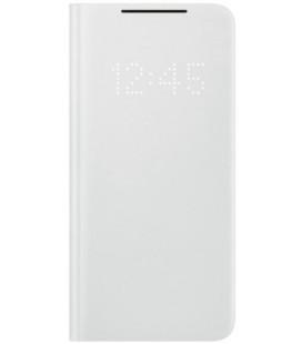 """Originalus pilkas atverčiamas dėklas """"LEDView Cover"""" Samsung Galaxy S21 telefonui """"EF-NG991PJE"""""""