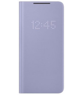 """Originalus violetinis atverčiamas dėklas """"LEDView Cover"""" Samsung Galaxy S21 Plus telefonui """"EF-NG996PVE"""""""