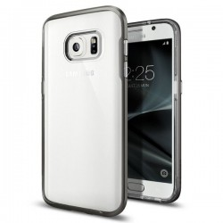 "Pilkas dėklas Samsung Galaxy S7 G930F telefonui ""Spigen Neo Hybrid Crystal"""