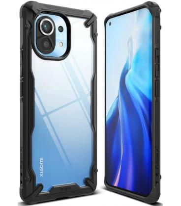 """Juodas dėklas Xiaomi Mi 11 telefonui """"Ringke Fusion X"""""""