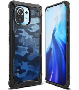 """Juodas (Camo) dėklas Xiaomi Mi 11 telefonui """"Ringke Fusion X"""""""