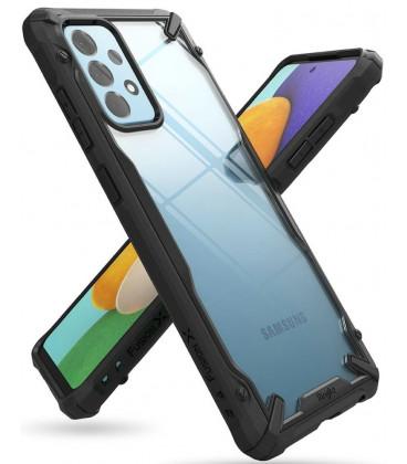 """Juodas dėklas Samsung Galaxy A52 4G/5G telefonui """"Ringke Fusion X"""""""