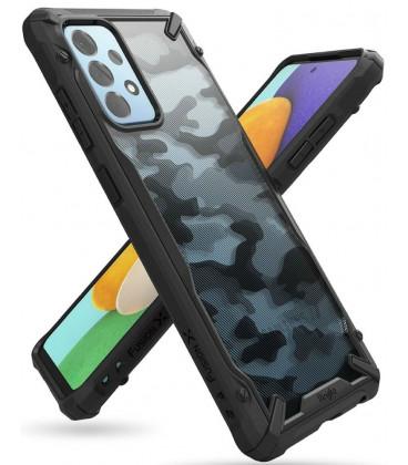 """Juodas (Camo) dėklas Samsung Galaxy A52 4G/5G telefonui """"Ringke Fusion X"""""""