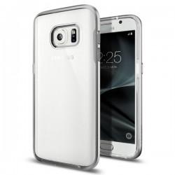 "Sidabrinės spalvos dėklas Samsung Galaxy S7 G930F telefonui ""Spigen Neo Hybrid Crystal"""