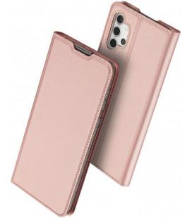 """Rausvai auksinės spalvos atverčiamas dėklas Samsung Galaxy A32 5G telefonui """"Dux Ducis Skin Pro"""""""