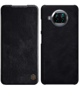 """Odinis juodas atverčiamas dėklas Xiaomi Mi 10T Lite 5G telefonui """"Nillkin Qin"""""""