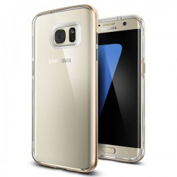 """Auksinės spalvos dėklas Samsung Galaxy S7 Edge G935F telefonui """"Spigen Neo Hybrid Crystal"""""""