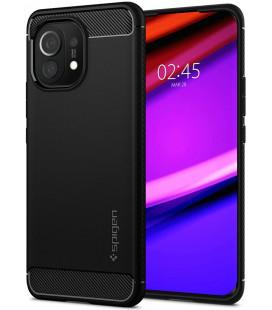 "Juodas dėklas Xiaomi Mi 11 telefonui ""Spigen Rugged Armor"""