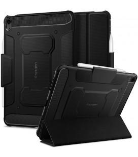 """Juodas atverčiamas dėklas Apple iPad Air 4 2020 planšetei """"Spigen Rugged Armor PRO"""""""