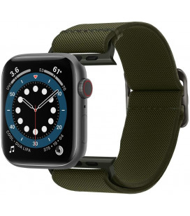 """Khaki spalvos apyrankė Apple Watch 4 / 5 / 6 / 7 / SE (42 / 44 / 45 mm) laikrodžiui """"Spigen Fit Lite"""""""