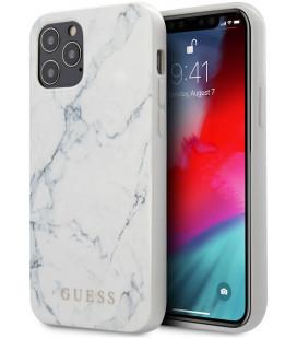 "Baltas dėklas Apple iPhone 12 Pro Max telefonui ""GUHCP12LPCUMAWH Guess PC/TPU Marble Cover"""