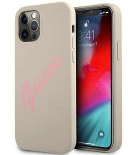"Pilkas dėklas Apple iPhone 12/12 Pro telefonui ""GUHCP12MPCUMAWH Guess PC/TPU Marble Cover"""