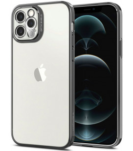 "Pilkas dėklas Apple iPhone 12 Pro telefonui ""Spigen Optik Crystal"""