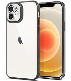 """Pilkas dėklas Apple iPhone 12 telefonui """"Spigen Optik Crystal"""""""
