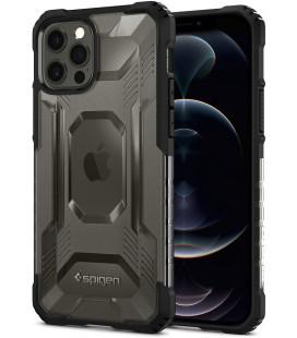 "Matinis juodas dėklas Apple iPhone 12/12 Pro telefonui ""Spigen Nitro Force"""