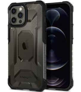"Matinis juodas dėklas Apple iPhone 12 Pro Max telefonui ""Spigen Nitro Force"""