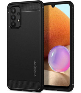 "Juodas dėklas Samsung Galaxy A32 LTE telefonui ""Spigen Rugged Armor"""