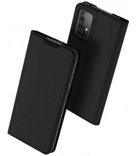 """Juodas atverčiamas dėklas Samsung Galaxy A52 telefonui """"Dux Ducis Skin Pro"""""""