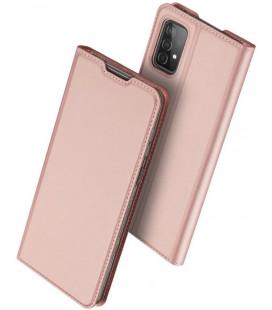 """Rausvai auksinės spalvos atverčiamas dėklas Samsung Galaxy A52 telefonui """"Dux Ducis Skin Pro"""""""