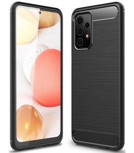 """Juodas dėklas Samsung Galaxy A52 telefonui """"Tech-Protect TPUCarbon"""""""