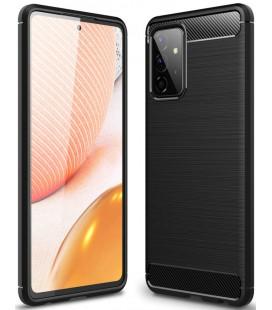 """Juodas dėklas Samsung Galaxy A72 telefonui """"Tech-Protect TPUCarbon"""""""