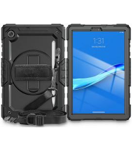 """Juodas dėklas Lenovo Tab M10 Plus 10.3 TB-X606 planšetei """"Tech-Protect Solid360"""""""