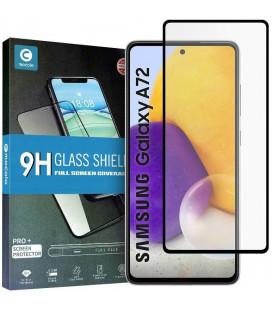 """Juodas apsauginis grūdintas stiklas Samsung Galaxy A72 telefonui """"Mocolo TG Full Glue"""""""