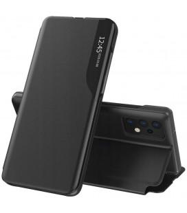 """Juodas atverčiamas dėklas Samsung Galaxy A52 telefonui """"Tech-protect Smart View"""""""
