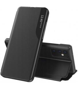 """Juodas atverčiamas dėklas Samsung Galaxy A72 telefonui """"Tech-protect Smart View"""""""